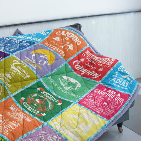 Camping Quilt | Custom Quilts Design by Mountain Roar - MRB