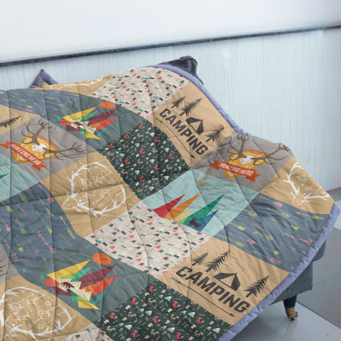 Image of Camping & Hunting Quilt | Custom Quilts Design by Mountain Roar - MRE