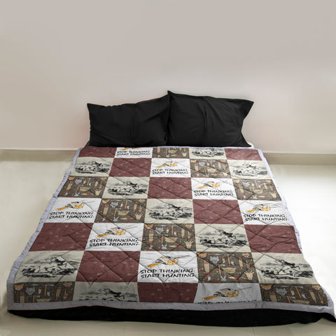 Image of Stop Thinking Start Hunting Quilt | Custom Quilts Design by Mountain Roar - MRE