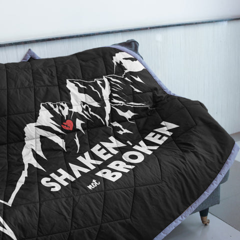 Shaken Not Broken Mountain Quilt | Custom Quilts Design by Mountain Roar - MRF