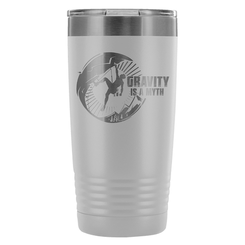 Mountain Roar Vacuum Insulated Tumblers 20 Oz | Gravity Is A Myth 01 Pewter - MRJ
