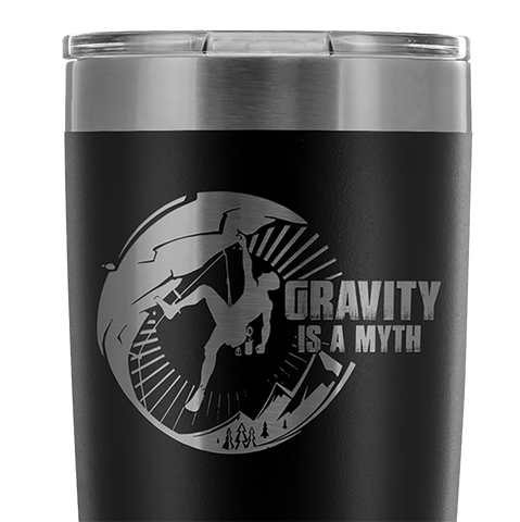 Mountain Roar Vacuum Insulated Tumblers 20 Oz | Gravity Is A Myth 01 Black- MRJ