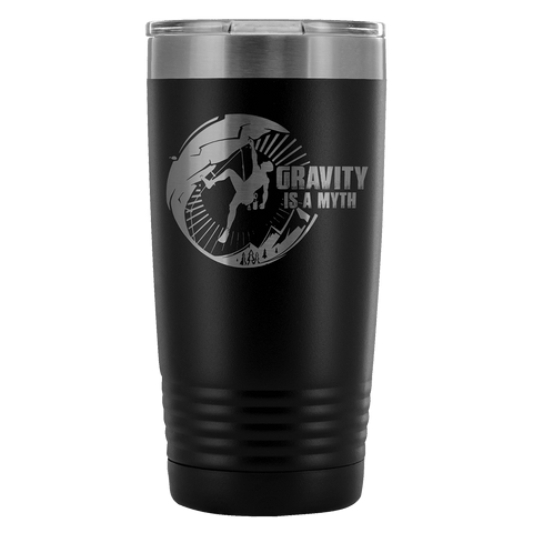 Mountain Roar Vacuum Insulated Tumblers 20 Oz | Gravity Is A Myth 01 Black - MRJ