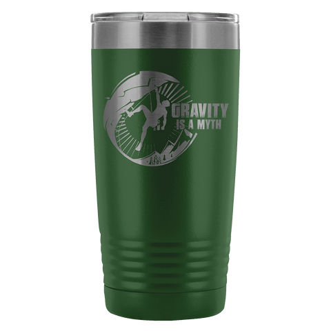 Mountain Roar Vacuum Insulated Tumblers 20 Oz | Gravity Is A Myth 01 Green - MRJ