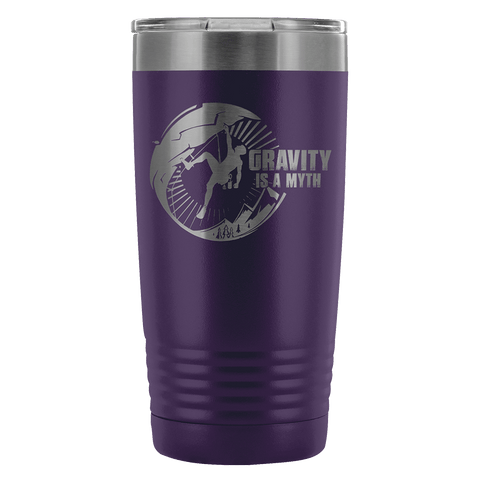 Mountain Roar Vacuum Insulated Tumblers 20 Oz | Gravity Is A Myth 01 Purple - MRJ