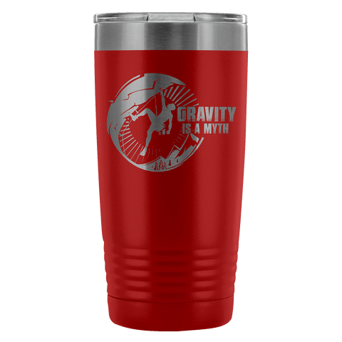 Mountain Roar Vacuum Insulated Tumblers 20 Oz | Gravity Is A Myth 01 Red - MRJ