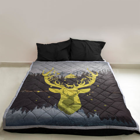 Image of Deer Hunting Quilts, Custom Quilts Design by Mountain Roar, on couch 05