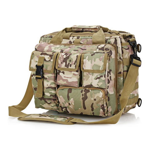 Image of Outdoor Tactical Military Messenger Bag Waterproof - Woodland
