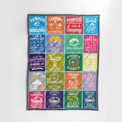 Image of Camping Quilt | Custom Quilts Design by Mountain Roar - MRB