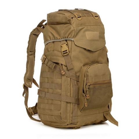 Waterproof 60L 3 Day Tactical Backpack with Rain Cover Camo