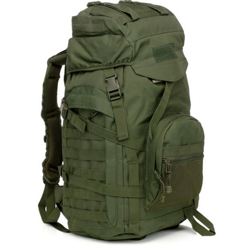 Waterproof 60L 3 Day Tactical Backpack with Rain Cover Army Green
