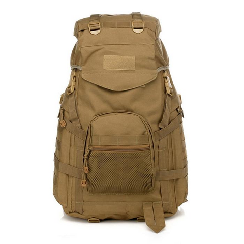 Image of Waterproof 60L 3 Day Tactical Backpack with Rain Cover - View