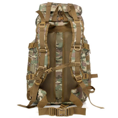 Image of Waterproof 60L 3 Day Tactical Backpack with Rain Cover View 06