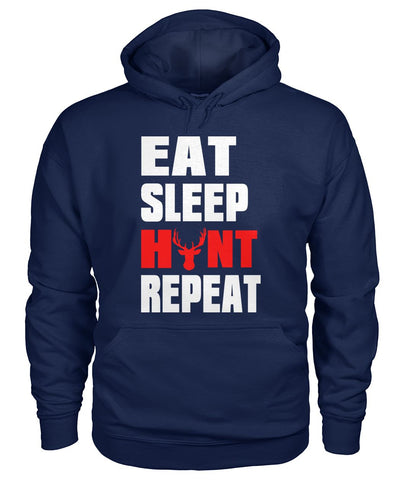 Eat Sleep Hunt Repeat 01 | Mountain Roar Gildan Hoodie Custom Design - MRF