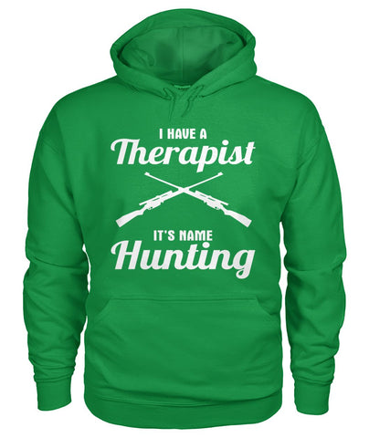 I Have A Therapist It's Name Hunting 01 | Mountain Roar Gildan Hoodie Custom Design - MRF