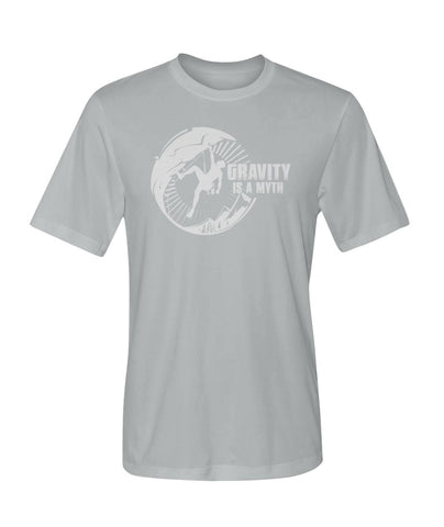 Gravity Is A Myth 01 | Mountain Roar Sport T Shirt Designs - MRJ