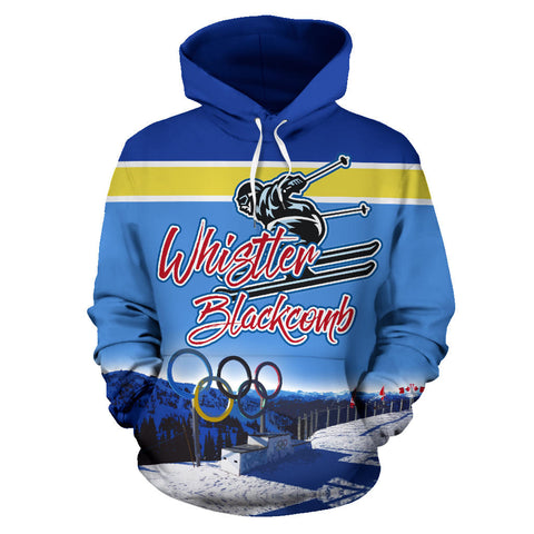Whistler Blackcomb Skiing All Over Print Hoodie - MRP