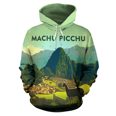 Alpaca Machu Picchu All Over Print Hoodie - MRE