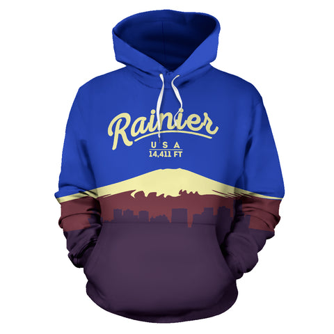 Image of Mount Rainier All Over Print Hoodie - MRE