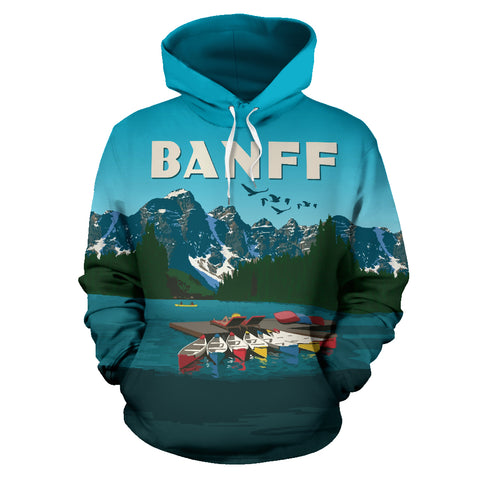 Image of Banff Canada All Over Print Hoodie - MRT