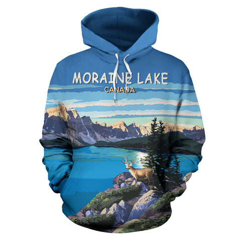 Image of Moraine Lake All Over Print Hoodie - MRH