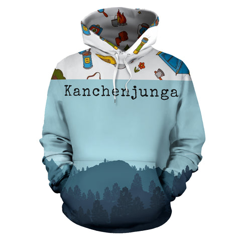 Kanchenjunga Mountain All Over Print Hoodie | Mountain Roar All Over Print Hoodies MRJ