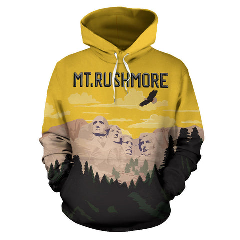 Image of Mount Rushmore All Over Print Hoodie - MRT