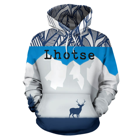 Lhotse Mountain All Over Print Hoodies | Mountain Roar All Over Print Hoodies MRJ