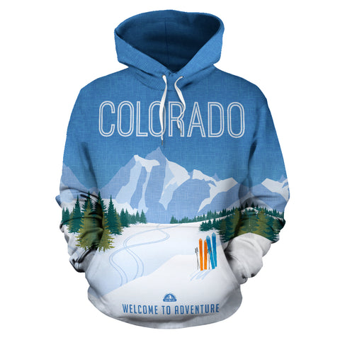 Colorado Skiing All Over Print Hoodie - MRP
