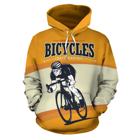 Bicycles Craftmanship All Over Print Hoodie - MRP