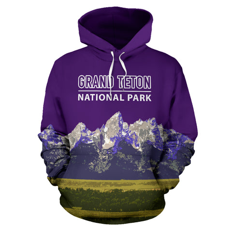 The Granite Peaks Of Grand Teton National Park Hoodie - Purple Version - MRP