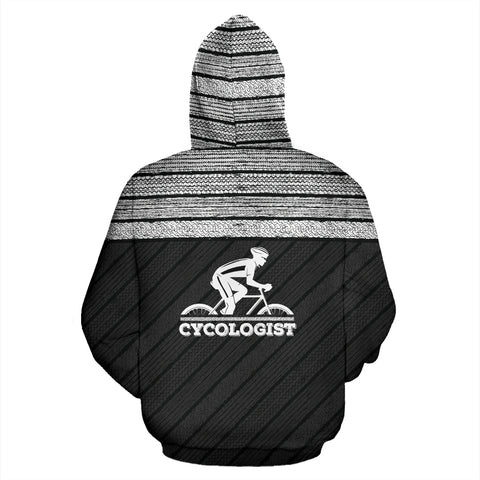 Cycologist Tire Tracks All Over Print Hoodie - MRP