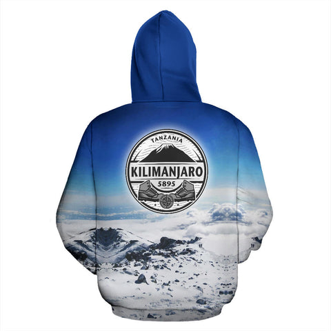 Image of Marangu Route Kilimanjaro Mountain All Over Print Hoodie - MRE