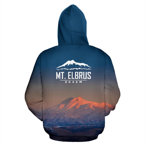 Image of Elbrus Mountain Night All Over Print Hoodie - MRE