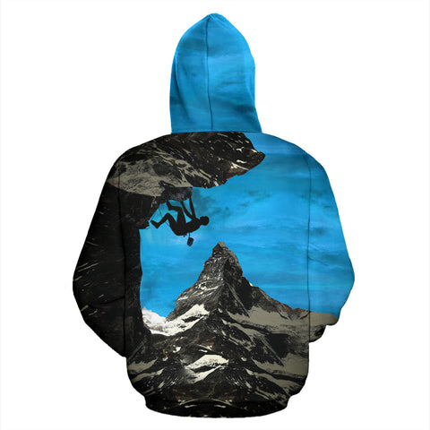 Image of Climbing Zermatt All Over Print Hoodie - MRT