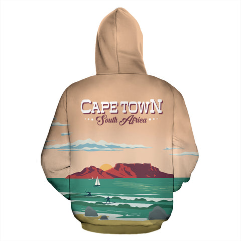 Cape Town South Africa All Over Print Hoodie - MRP