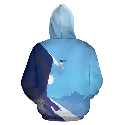Verbier Switzerland All Over Print Hoodie - MRT