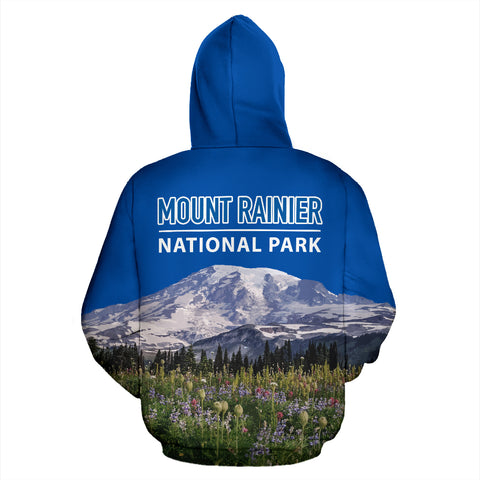 Image of Mount Rainier National Park All Over Print Hoodie - MRE
