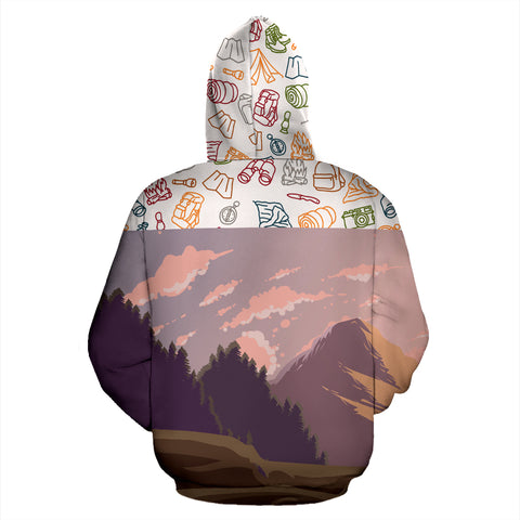 Makalu Mountain All Over Print Hoodie | Mountain Roar All Over Print Hoodie MRE