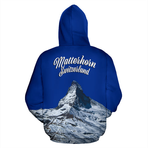 Image of Zermatt Matterhorn Switzerland Mountain All Over Print Hoodie - MRP