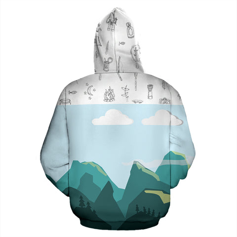 Dhaulagiri Mountain All Over Print Hoodies | Mountain Roar All Over Print Hoodies MRJ