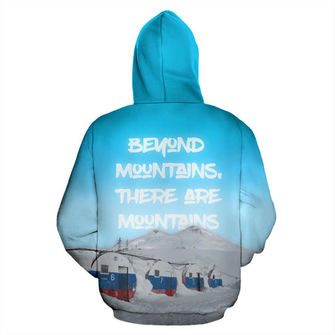 Russia Elbrus Mountain All Over Print Hoodie - MRE