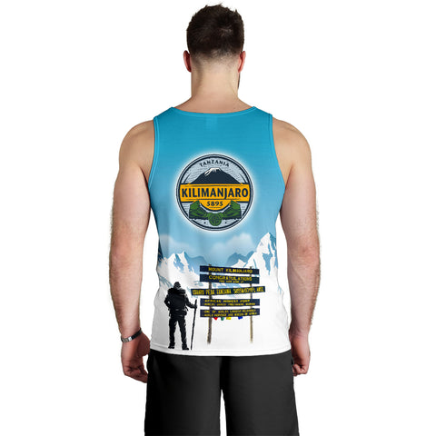Trekking to Kilimanjaro Mountain Tank Top - MRET