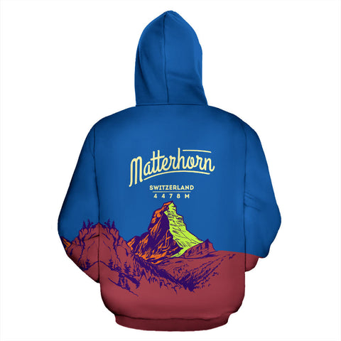 Matterhorn Mountain All Over Print Hoodie - MRE