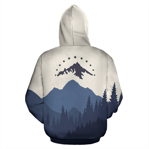 Mountain, The Most Alive Place All Over Print Hoodie - MRP