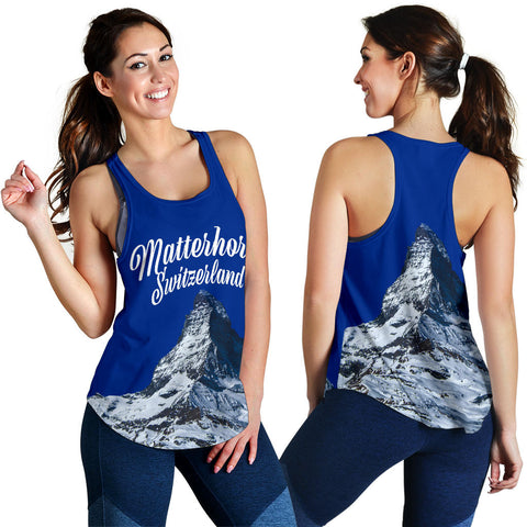 Image of Zermatt Matterhorn Switzerland Mountain Racerback Tank - MRPT