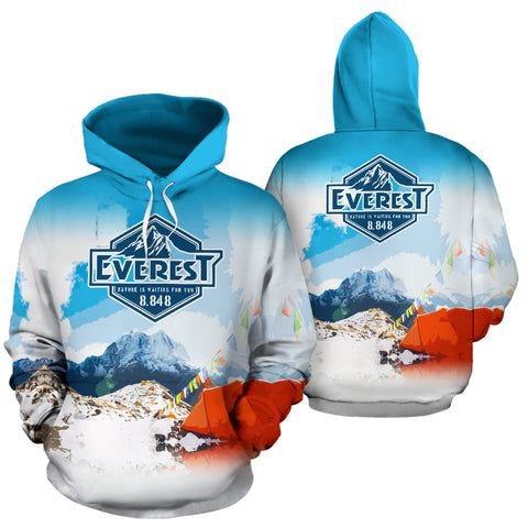 Everest Base Camp All Over Print Hoodie - MRP