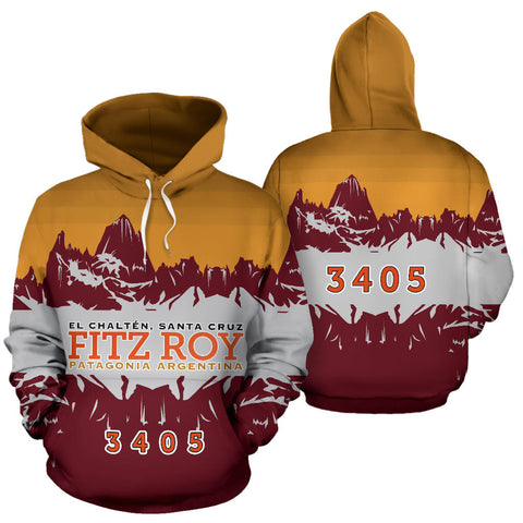3405 Fitz Roy Patagonia Mountain All Over Print Hoodie - MRE