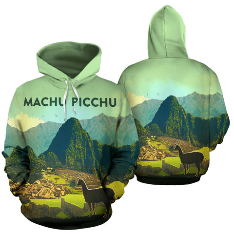 Image of Alpaca Machu Picchu All Over Print Hoodie - MRE