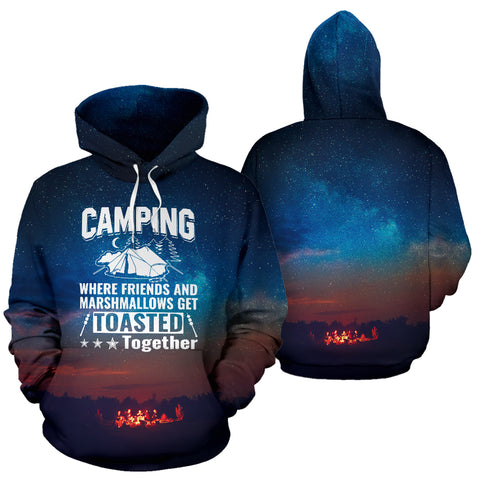 Image of Camping Where We Get Toasted Together Hoodie - MRP